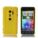 Coque HTC EVO 3D G17 Filet Plastique Etui Rigide - Jaune