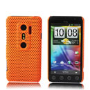 Coque HTC EVO 3D G17 Filet Plastique Etui Rigide - Orange