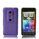 Coque HTC EVO 3D G17 Filet Plastique Etui Rigide - Pourpre