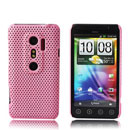 Coque HTC EVO 3D G17 Filet Plastique Etui Rigide - Rose