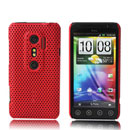 Coque HTC EVO 3D G17 Filet Plastique Etui Rigide - Rouge