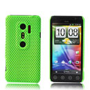 Coque HTC EVO 3D G17 Filet Plastique Etui Rigide - Verte