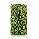 Coque HTC EVO 3D G17 Leopard Etui Rigide - Verte