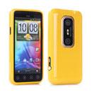 Coque HTC EVO 3D G17 Silicone Gel Housse - Jaune