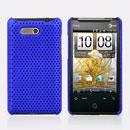 Coque HTC HD Mini T5555 Aria G9 Filet Plastique Etui Rigide - Bleu