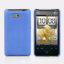 Coque HTC HD Mini T5555 Aria G9 Filet Plastique Etui Rigide - Bleue Ciel