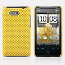 Coque HTC HD Mini T5555 Aria G9 Filet Plastique Etui Rigide - Jaune