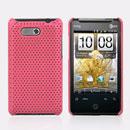 Coque HTC HD Mini T5555 Aria G9 Filet Plastique Etui Rigide - Rose
