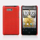 Coque HTC HD Mini T5555 Aria G9 Filet Plastique Etui Rigide - Rouge