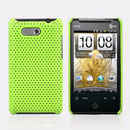 Coque HTC HD Mini T5555 Aria G9 Filet Plastique Etui Rigide - Verte