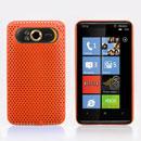 Coque HTC HD7 T9292 Filet Plastique Etui Rigide - Orange