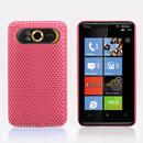 Coque HTC HD7 T9292 Filet Plastique Etui Rigide - Rose