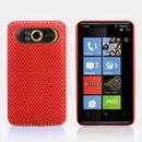Coque HTC HD7 T9292 Filet Plastique Etui Rigide - Rouge