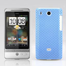 Coque HTC Hero G3 A6262 Filet Plastique Etui Rigide - Bleue Ciel