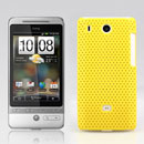 Coque HTC Hero G3 A6262 Filet Plastique Etui Rigide - Jaune