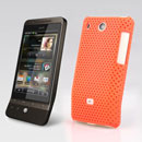 Coque HTC Hero G3 A6262 Filet Plastique Etui Rigide - Orange