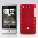 Coque HTC Hero G3 A6262 Filet Plastique Etui Rigide - Rouge