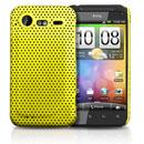 Coque HTC Incredible S G11 S710e Filet Plastique Etui Rigide - Jaune
