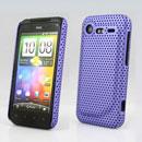 Coque HTC Incredible S G11 S710e Filet Plastique Etui Rigide - Pourpre