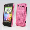 Coque HTC Incredible S G11 S710e Filet Plastique Etui Rigide - Rose