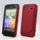Coque HTC Incredible S G11 S710e Filet Plastique Etui Rigide - Rouge