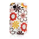 Coque HTC Incredible S G11 S710e Fleurs Silicone Housse Gel - Orange