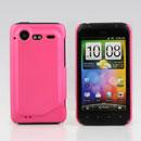 Coque HTC Incredible S G11 S710e Plastique Etui Rigide - Rose