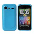Coque HTC Incredible S G11 S710e Silicone Gel Housse - Bleue Ciel