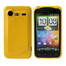 Coque HTC Incredible S G11 S710e Silicone Gel Housse - Jaune