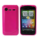 Coque HTC Incredible S G11 S710e Silicone Gel Housse - Rose Chaud