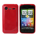 Coque HTC Incredible S G11 S710e Silicone Gel Housse - Rouge