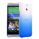 Coque HTC One E8 Degrade Etui Rigide - Bleu