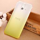 Coque HTC One E8 Degrade Etui Rigide - Jaune