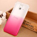 Coque HTC One E8 Degrade Etui Rigide - Rose Chaud