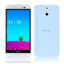 Coque HTC One E8 Silicone Transparent Housse - Bleue Ciel