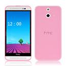 Coque HTC One E8 Silicone Transparent Housse - Rose