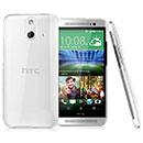 Coque HTC One E8 Transparent Plastique Etui Rigide - Clear