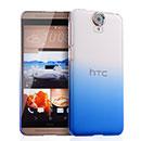Coque HTC One E9 Degrade Etui Rigide - Bleu
