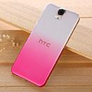 Coque HTC One E9 Degrade Etui Rigide - Rose Chaud
