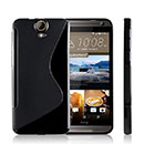 Coque HTC One E9 S-Line Silicone Gel Housse - Noire