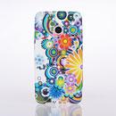 Coque HTC One M7 801e Fleurs Silicone Housse Gel - Mixtes