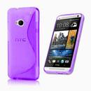 Coque HTC One M7 801e S-Line Silicone Gel Housse - Pourpre