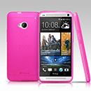 Coque HTC One M7 801e Silicone Gel Housse - Rose Chaud