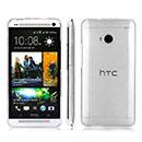 Coque HTC One M7 801e Silicone Transparent Housse - Blanche