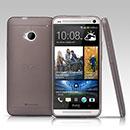 Coque HTC One M7 801e Silicone Transparent Housse - Gris