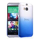 Coque HTC One M8 Degrade Etui Rigide - Bleu