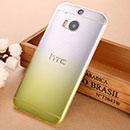 Coque HTC One M8 Degrade Etui Rigide - Jaune