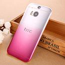 Coque HTC One M8 Degrade Etui Rigide - Rose Chaud