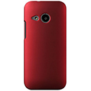 Coque HTC One M8 Mini Plastique Etui Rigide - Rouge