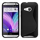 Coque HTC One M8 Mini S-Line Silicone Gel Housse - Noire